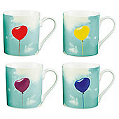 Tesco  Balloon Mug Sherbet Crush 4 pack