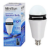 MiniSun BC B22 3W LED Bluetooth Speaker Bulb Cool White