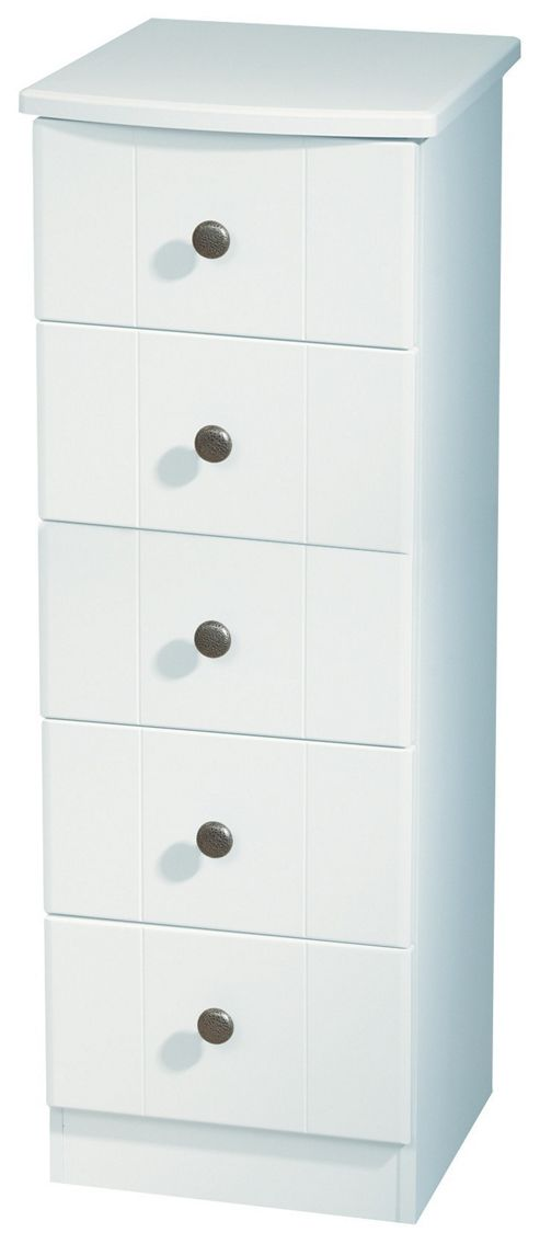 Welcome Furniture Kingston 5 Drawer Chest - White