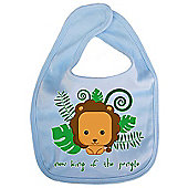 Dirty Fingers New King of the Jungle Cute Lion Bib Blue