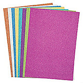 Glitter A4 Card in 8 Frosty Colours - Winter/Christmas Art Supplies for Kids/Adults Crafts Scrapbooking and Decoration Making (Pack of 16)