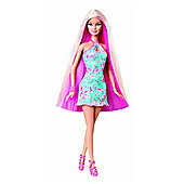 Barbie Long Hair Glam Pink Blonde Doll