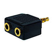 Gold-Plated 3.5mm Stereo Two-into-One Adaptor