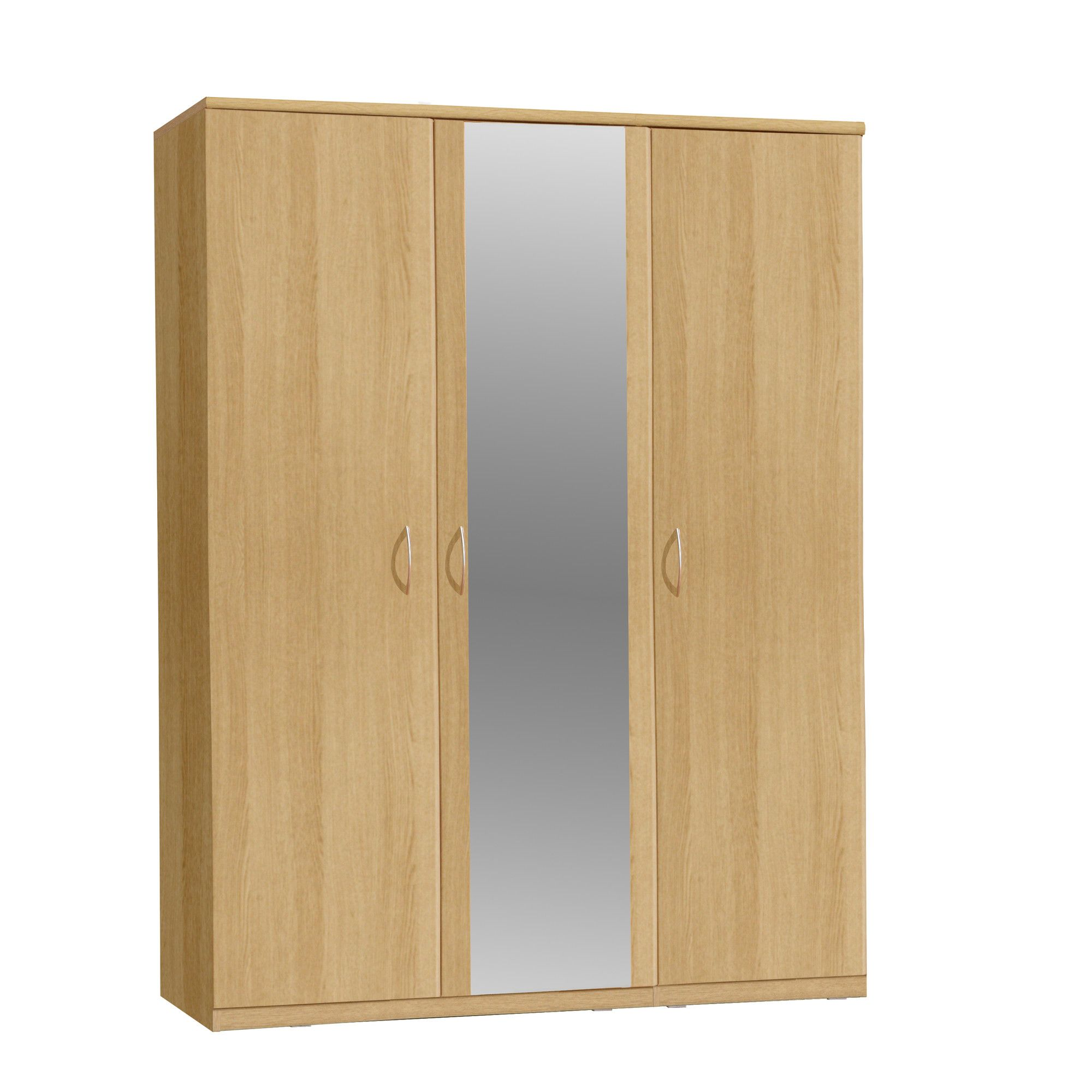 Forte Onyx Three Door Wardrobe with Centre Mirror at Tesco Direct