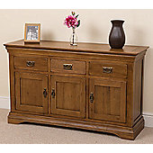 Bordeaux Rustic Solid Oak Large Sideboard