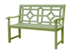 Woburn bench - lichen green