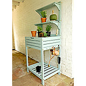Potting bench with storage - eau de nil