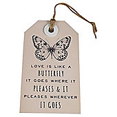Love is Like a Butterfly Wall Art