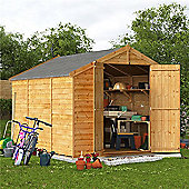 BillyOh Keeper Overlap Apex Wooden Garden Shed - 10 x 8 Windowless
