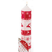 Stoneglow Candles Silver Chunky Advent Pillar Candle
