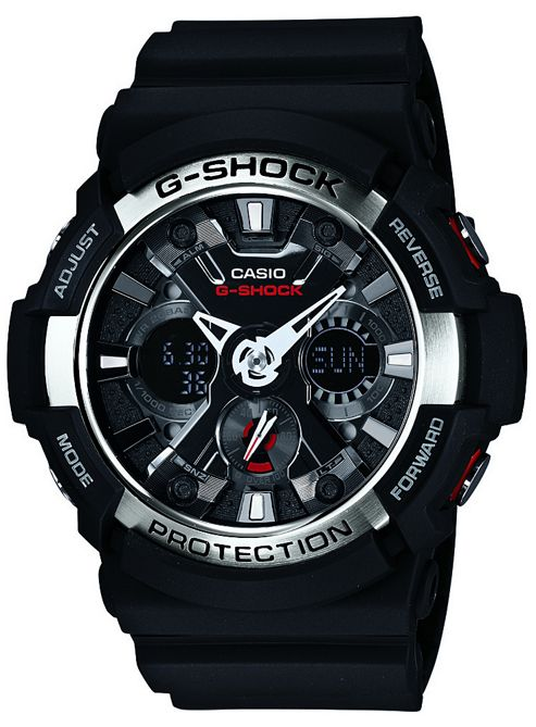 Casio Computer GA200/1A Men's Analouge Watch with World Time Function