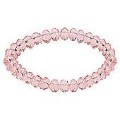 Pink Glass Bead Stretch Bracelet