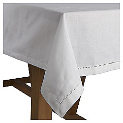 Cotton Tablecloth, White, 185x130cm