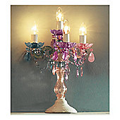 Leitmotiv Marie Therese 4 Light Pastel Multi-Coloured Candelabra
