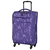 IT Luggage Megalite 4-Wheel Suitcase, Purple Medium