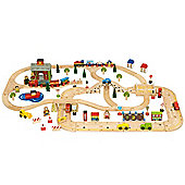 Bigjigs Rail BJR015 City Road and Railway Set