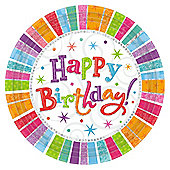 Radiant Birthday Party Plates