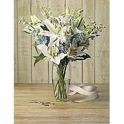 Finest Delphinium & Lily Bouquet