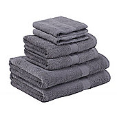 Homegear Egyptian Style Luxury Cotton Bath Towel Bale 6 Piece Set - Charcoal