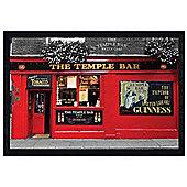 Dublin Black Wooden Framed The Temple Bar Poster