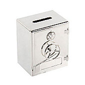 Kids Silverplated Old Style Safe Money Box