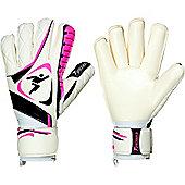 Precision Gk Brasiliero Roll Finger Contact Goalkeeper Gloves - White