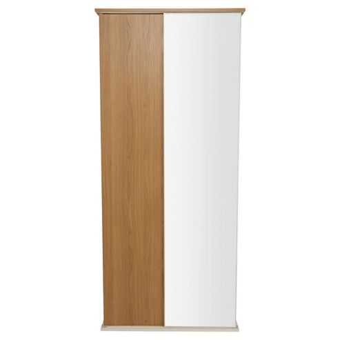 Palma 2 Door Sliding Wardrobe, Oak/White