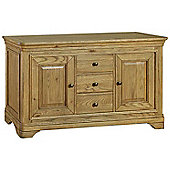 Kelburn Furniture Loire Large Sideboard in Light Oak Stain and Satin Lacquer