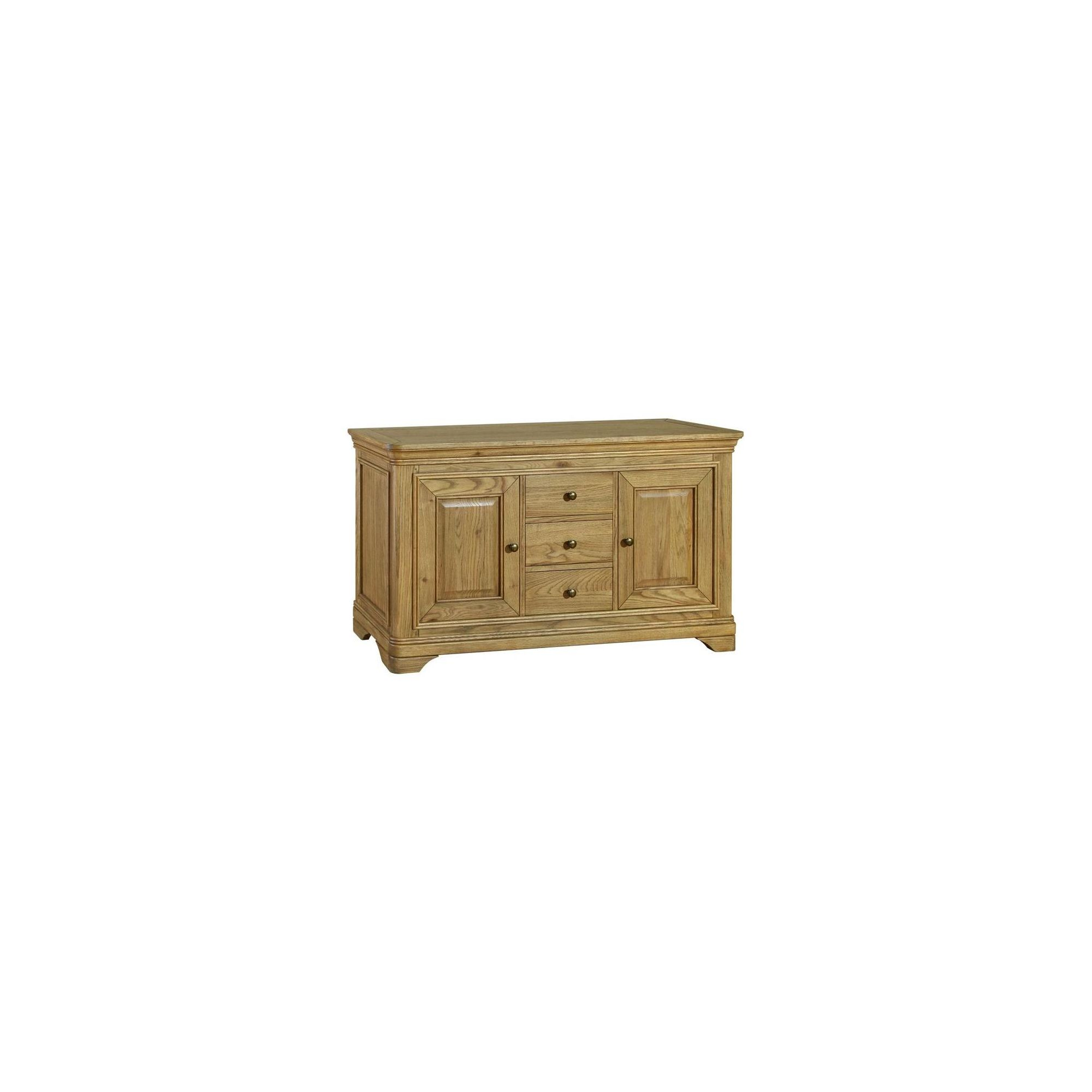 Kelburn Furniture Loire Large Sideboard in Light Oak Stain and Satin Lacquer at Tesco Direct
