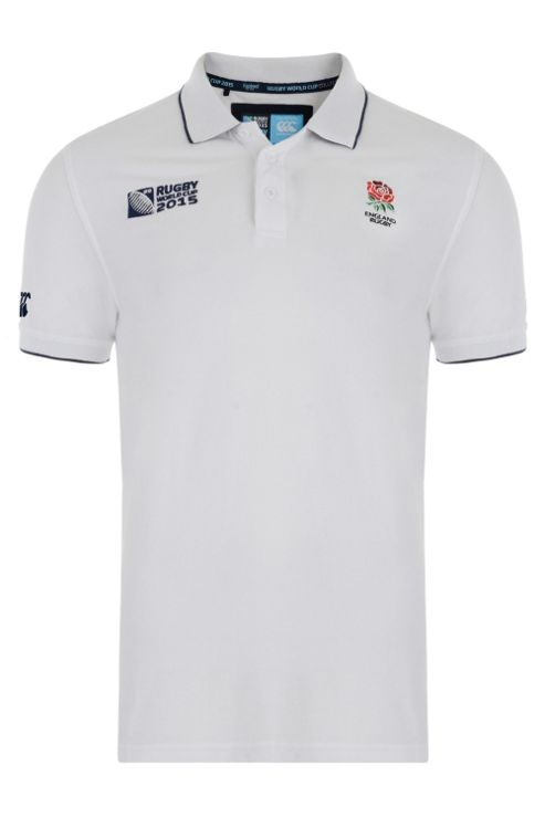 England Rugby Supporter Polo Shirt - White