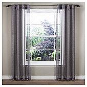 "Marrakesh Voile Eyelet Curtain W137xL137cm (54x54"") - - Grey"
