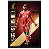 Liverpool Football Club Black Wooden Framed Daniel Sturridge LFC Poster