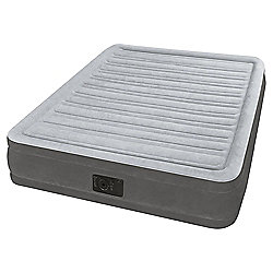 Intex Full Comfort Plush Mid Rise Airbed With Built-in Pump