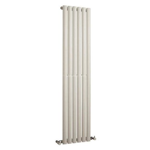Hudson Reed Revive Single Panel Vertical Designer Radiator White 1500mm High x 354mm Wide