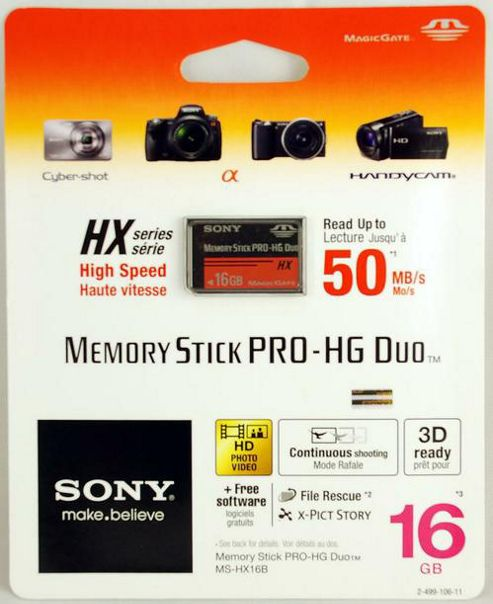 Sony Memory Stick Pro Duo Memory Card - 16 Gb