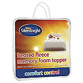 Silentnight Heated Fleece Memory Foam Mattress Topper, King