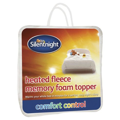 Silentnight Heated Fleece Memory Foam Mattress Topper King
