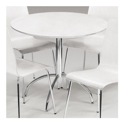 Julian Bowen Mandy Dining Table in White - 90cm