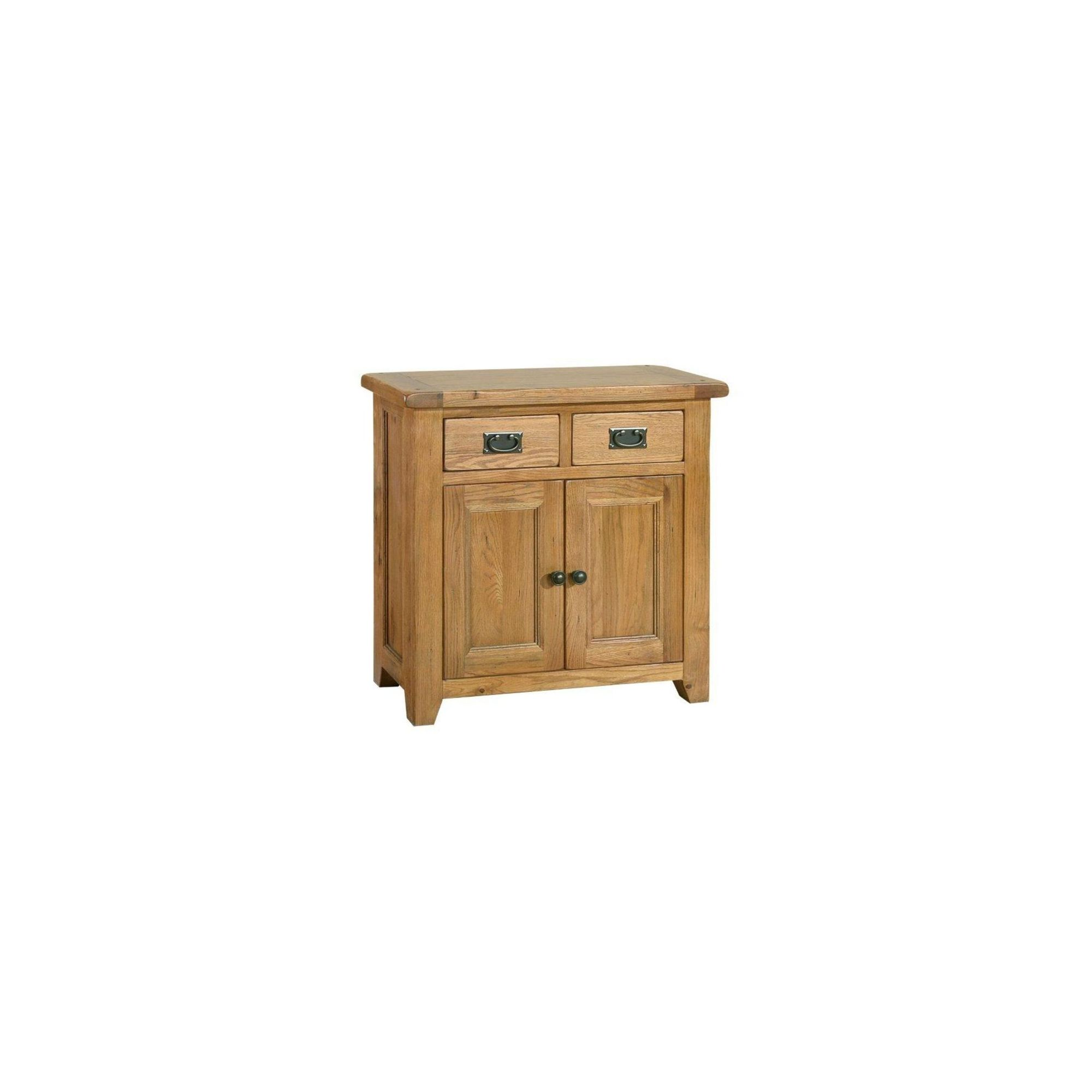 Kelburn Furniture Bordeaux Mini Sideboard in Medium Oak Stain and Satin Lacquer at Tesco Direct
