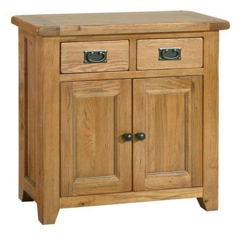 Kelburn Furniture Bordeaux Mini Sideboard in Medium Oak Stain and Satin Lacquer