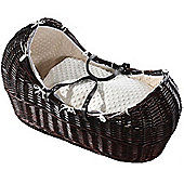 Isabella Alicia Dark Izzy-Pod Moses Basket (Dimple Cream)