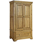 Kelburn Furniture Loire Gents Double Wardrobe with Drawer