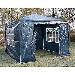 AirWave Party Tent Marquee Fully Waterproof With WindBar - 3x3m in Blue