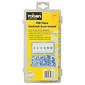 Rolson 100-Piece Locknut Assortment