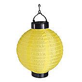 Yellow LED Solar Powered Hanging Chinese Lantern