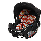 OBaby Zeal Group 0+ Infant Car Seat (ZigZag Orange)
