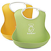BabyBjorn Soft Bib 2 Pack (Green/Yellow)