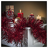 Festive Red Christmas Tinsel In Box, 10m