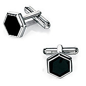 Fred Bennett Black Enamel Hexagon Cufflinks