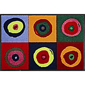 Wash & Dry by Kleen-Tex Sergej Flat Bordered Rug - 75cm x 50cm
